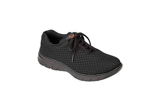 Dian Blucher Unisex-Schuh, Mikrofaser, Schwarz – Fußball-52, Schwarz - Schwarz  - Größe: 41 EU