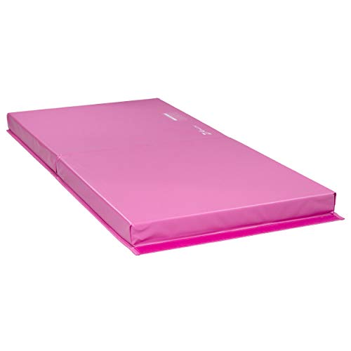 Z Athletic Landing Crash Mat Open Cell for Gymnastics, Tumbling, Martial Arts (Pink, 6ft x 3ft x 4in)