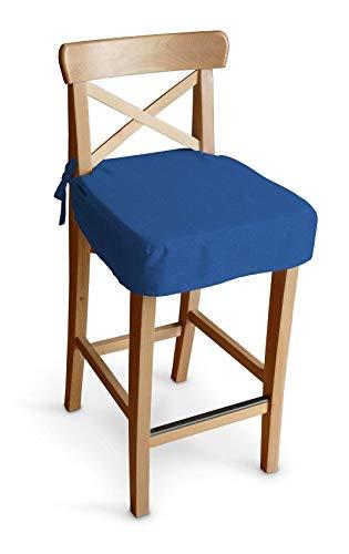 Dekoria Sitzkissen für Barhocker Ingolf Stuhlbezug Stuhlkissen passend für IKEA Modell Ingolf Royalblau