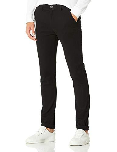 Demon&Hunter 910X Skinny Serie Hombre Pantalones Estrechos Casual Chino DH9101(36)