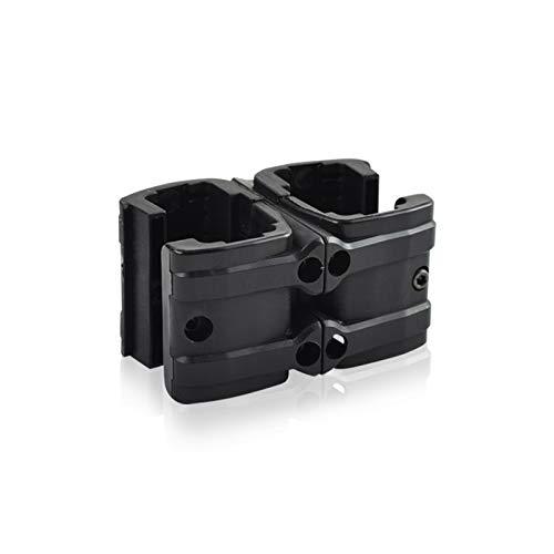 XFC-DANJIA, Táctica del Arma del Rifle MP7 rápido mag acoplador Titular Clip Doble Revista Paralelo Conector Militar de Airsoft Caza Accesorios (Color : Negro)