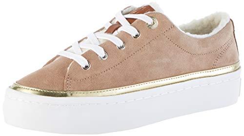 Tommy Hilfiger Damen Cosy LACE Suede Sneaker, Braun (Tiger\'s Eye Gez), 39 EU
