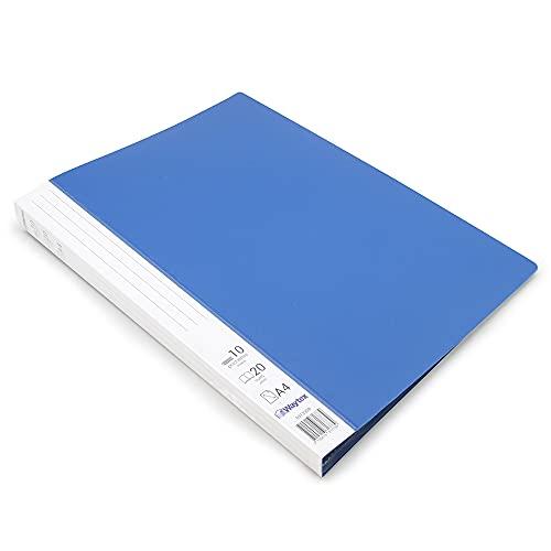 Waytex 931330B Premium - Carpeta para documentos (A4, 20 fundas, polipropileno, opaco, 10 fundas, transparentes), color azul