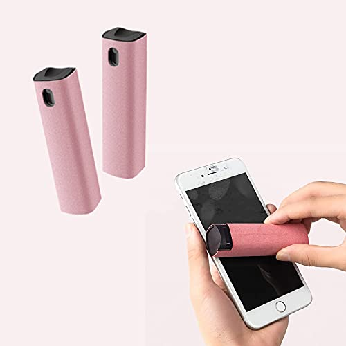 Limpiador de Niebla Para Pantalla Táctil, Aerosol Dos en Uno y Paño de Microfibra, Aerosol Limpiador de Pantalla de Teléfono(Rosa)