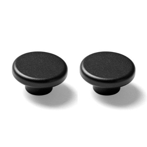 Menu Knobs, Black, 2-Pack