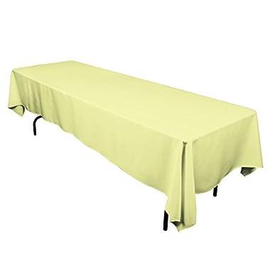 LinenTablecloth 60 x 126-Inch Rectangular Polyester Tablecloth Tea Green
