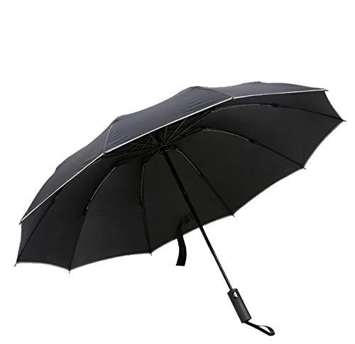 Paraguas soleado completamente automático, paraguas reversible de tres pliegues para automóvil, paraguas plegable anti-UV para exteriores para hombres y mujeres