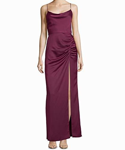 Betsy & Adam Womens Satin Formal Evening Dress Purple 12
