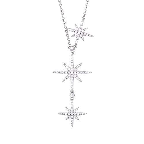 Collar S925 Collar de meteorito de Plata esterlina Tres Metros Palabra Estrella...