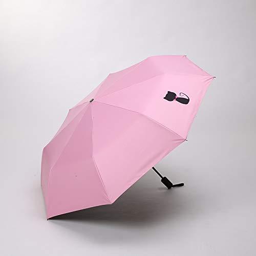 qqyz Taiyangqing kat paraplu regen vrouw ms parasso Uff paraplu voor kind meisje vouwen winddichte avontuur wind