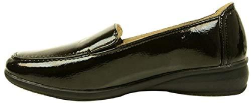 Dr Keller Sally Zapatos Con Cuña Sin Cordones Informal Mujer - Piel y sintético, 36, Negro charol