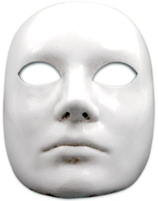 Karneval / Kostüm / Halloween Venezianische Maske - Volto bianco