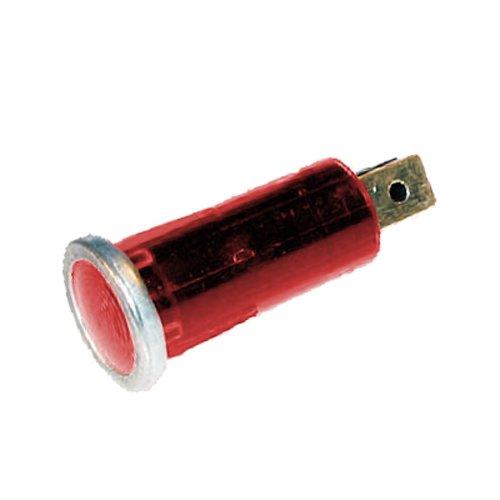 Kontrolleuchte, Kontrolllampe, Warnlampe 12V rot mit Chromrand
