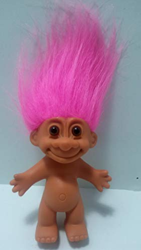Russ Pink Haired Troll Doll 4.5' Tall with Hair 6' Tall