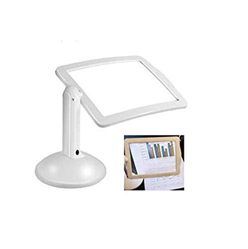 Schrijftafelvergrootglas met LED-licht, fluorescentielamp natuurlijk, draaibaar, 360 graden flexibele houder, leesbril cadeau