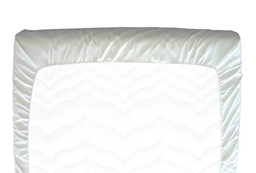 FabaCare PVC Spannbettbezug 90 x 200 cm, Bettbezug bei Inkontinez, Spannbettlaken weiß