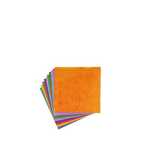 Papel de Origami Cuadrado Papel de artesanía de Color Brillante Plegable de una Cara Papel de diseño de decoración de álbum de Recortes Hecho a Mano para niños - Origami de 7x7 cm