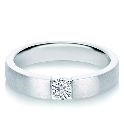 Tresor 1934 Damen-Ring Diamant 0,25 Weißgold Spannring Diamantring Verlobungsring