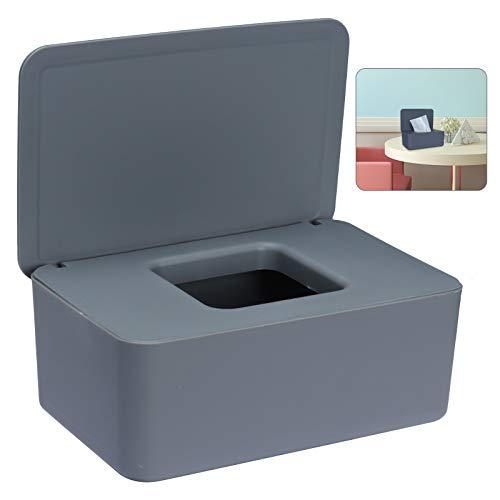 Sinwind Feuchttücher-Box, Aufbewahrungsbox für Feuchttücher, Baby Feuchttücherbox, Toilettenpapier Box, Taschentuchhalter, Spenderhalter mit Deckel für Zuhause und Büro (Grau)