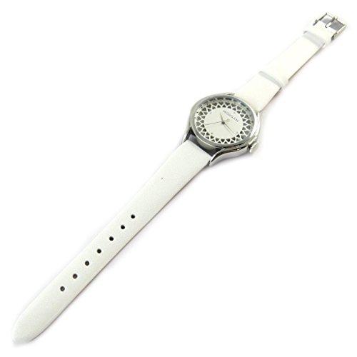 Morgan [N9868] - Designer-Uhr 'Morgan' Silber weiß (Spitze).