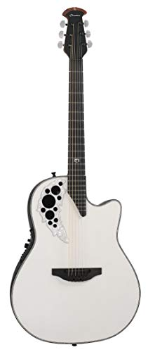 Ovation 2078ME-6P Melissa Etheridge Signature Elite Acoustic-Electric Gitar met harde hoes, Pearlescent White