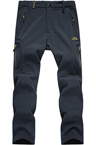 Pantalons Outdoor pour Hommes Pantalon en Polaire Imperméable Pantalon Tactique de Travail pour Homme Pantalon de Camping Chaud d'hiver Armée Militaire Waterprrof Fleece Skiing Hiking Trousers Gris