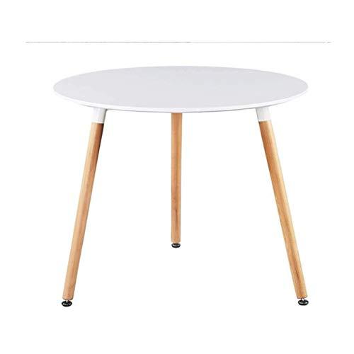 Runder Beistelltisch moderner Mattlack Eames runder Tisch geeignet für Esszimmer Wohnzimmer Tagungsraum Couchtisch,Weißer Eames Runder Tisch