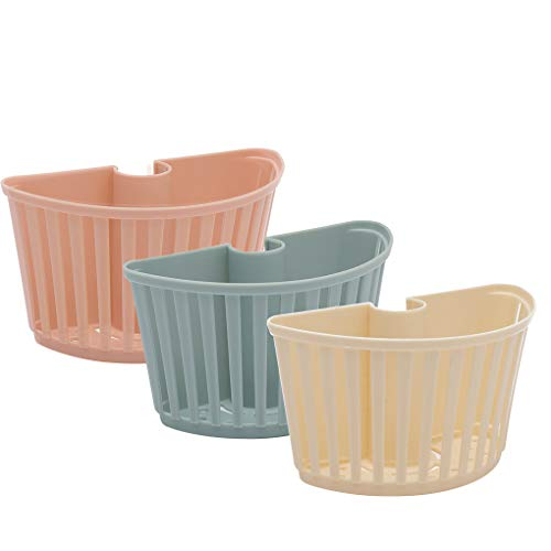 Vokmon Rack-Sink Plastikkorb Storage Rack ablassen Küchenversorgung für Küche Badezimmer, cremefarben