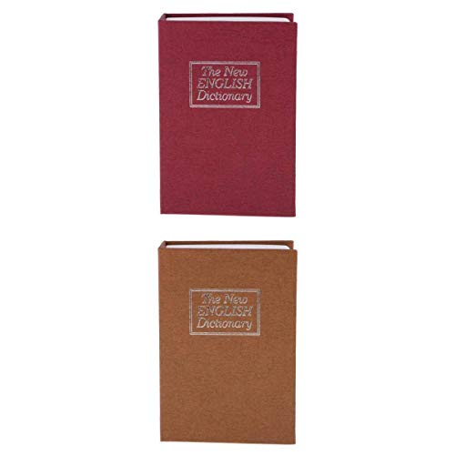 Alijo de seguridad seguro oculto del libro del diccionario 2pcs con la caja de dinero del metal dominante