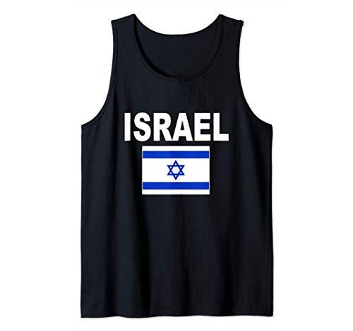 Israel Flag Israeli Jewish Flags Hanukkah Gift for Men Women Tank Top