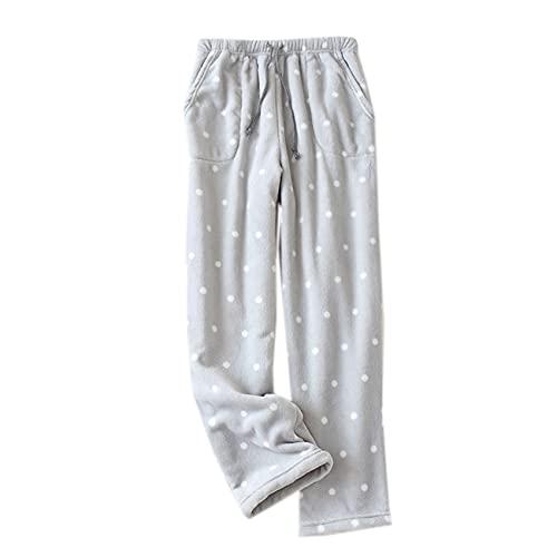 Pantaloni Pigiama Autunno E Inverno Caldo Flanella da Donna Pantaloni A Bocca Larga Pantaloni Larghi Larghi in Pile di Corallo Spesso Pigiama per La Casa