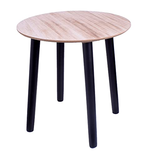 Mesa de café redonda de madera DM de 40 x 40 cm
