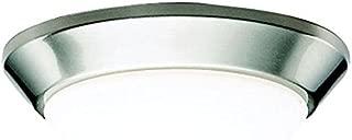 Kichler 8880NI Flush Mount Ceiling Lighting Round, Brushed Nickel 1-Light (10