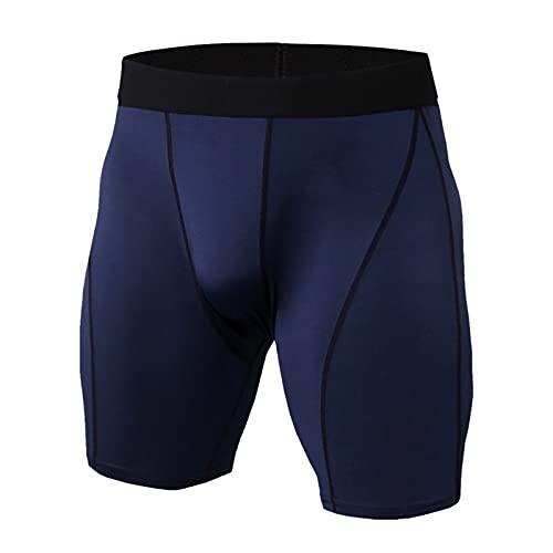 KIMODO Männer Badehose Schwimmshorts mit Hohem Komfortable Schwimmhose Herren Feuchtigkeitstransportierende und Schnell Trocknende Lauftarnhose Fitness Camouflage Shorts und Gamaschen (F-Marine, 3XL)