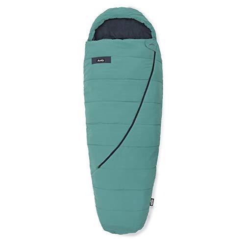 Qeedo Buddy Schlafsack in Eiform, Mumienschlafsack für Damen und Herren, extra breit, grün