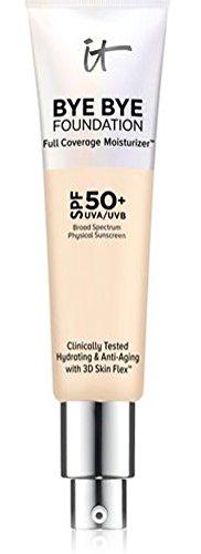 It Cosmetics Bye Bye Foundation Full Coverage Moisturizer Fair Light SPF 50+ 1.0 ounce