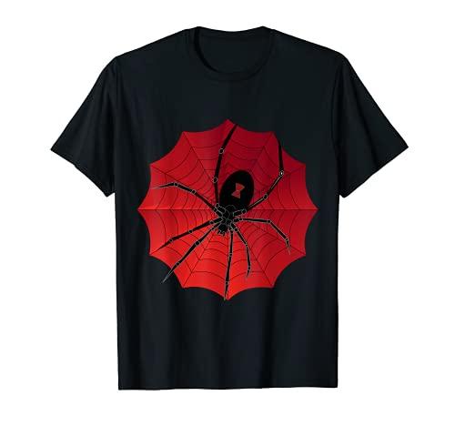 Spider Web Halloween 2019 T-Shirt Spinnennetz schwarze Witwe