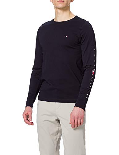 Tommy Hilfiger Herren Essential Tommy LS Tee T-Shirt, Wüstenhimmel, L