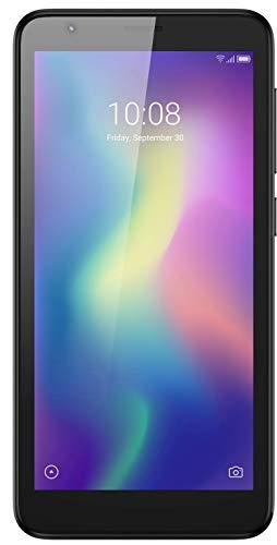 ZTE Blade L8 - Smartphone 5  18:9 TFT (Quad Core, 1GB RAM, 16GB ROM, Cámara trasera 8 Mpx, Cámara frontal 2 Mpx, doble SIM, Android 9 Go), Color Negro [versión española]