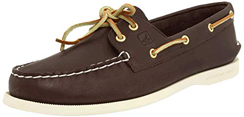 Sperry Womens A/O 2-Eye Boat Shoe, Classic Brown, 8.5 Wide
