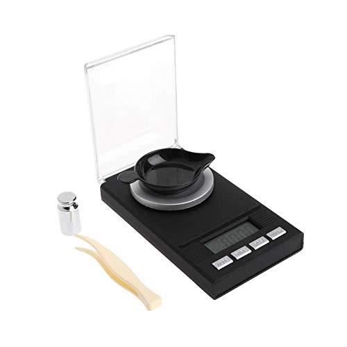 Keuken Thuis Multifunctionele Elektronische Precisieweegschalen 20G/0 001G Mini Digitale LCD Elektronische Gram Weegschaal Lab Goud Wegen Zakweegschaal Hoge Precisie Keukenweegschaal met Dienblad