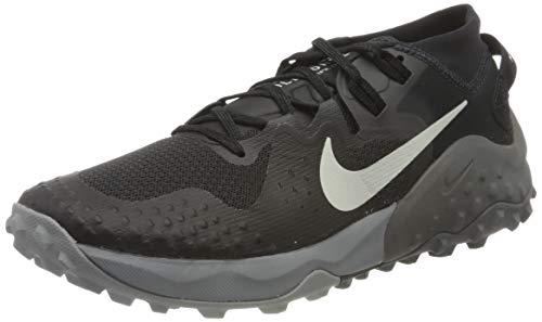 Nike Wildhorse 6, Trail Running Shoe Hombre, Off Noir/Spruce Aura-Black-Iron Grey, 40.5 EU