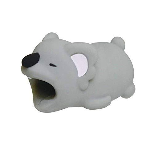 Nyyi Protector de Cable Diseño de Animales para iPhone, Protege el Cable y Evita roturas(Koala)
