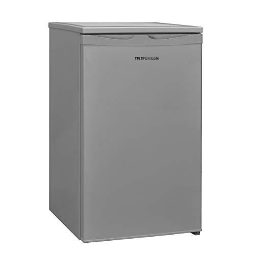 Telefunken CF-32-151-S Kühlschrank mit Gefrierfach / 83,8 cm / 84 kWh/Jahr / 81 L Nutzinhalt / 73 L Kühlteil / 8 L Gefrierteil/wechselbarer Türanschlag/Höhenverstellbare Füße, silber