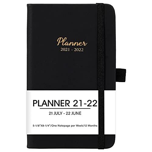 2021-2022 Pocket Planner/Calendar - July 2021 - June 2022, Weekly & Monthly Pocket Planner, 6.3'' X 3.9'', Pen Loop, Pocket, Book Markers, Elastic Closure, Note Pages, Agenda Planner