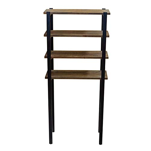 Alaterre Furniture Sonoma 64 Tall Over The Toilet 4 Storage Bath Shelf 64 Inch Natural