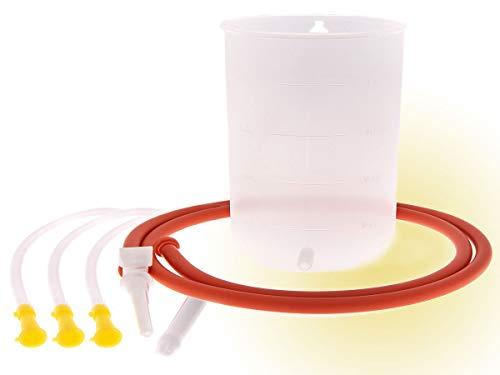Schneider's Einlaufgerät - Einlaufbecher - Irrigator-Set mit Darmrohr und Anleitung Medizinprodukt + Gratisaktion 2 zusätzliche Darmrohre steril verpackt als Einlaufhilfe