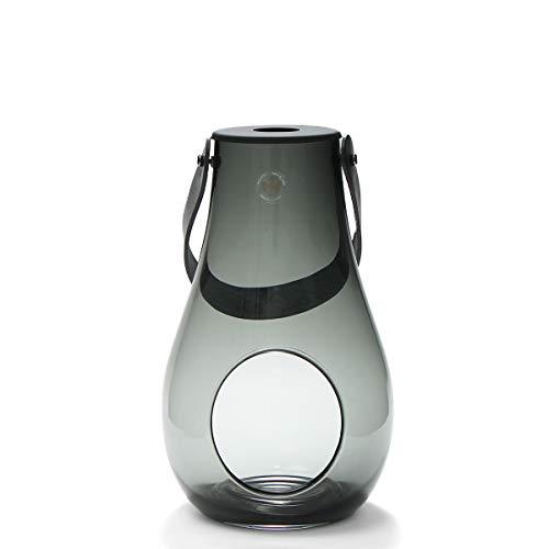 ホルムガード(Holmegaard) ランタン/デザイン ウィズ ライト スモーク M 25cm DESIGN WITH LIGHT 4343535 [並行輸入品]