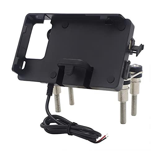 WUZ Store Titular del soporte del soporte del teléfono de la motocicleta Teléfono del soporte del soporte del soporte del soporte del soporte de la placa GPS para F900R F900XR ( Color : Black )