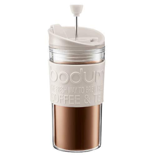 Bodum Set caffettiera da viaggio con coperchio extra, 0,35 l, colore: Crema